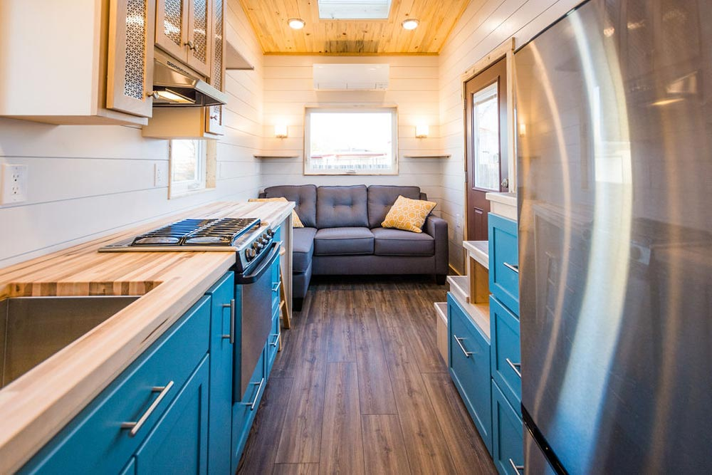 Luxury Vinyl Plank Flooring - 20' Tiny House by MitchCraft Tiny Homes