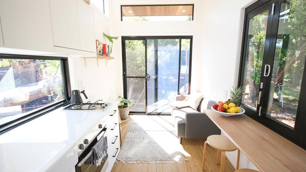 Kitchen & Bar Top - Mooloolaba 7.2 by Aussie Tiny Houses