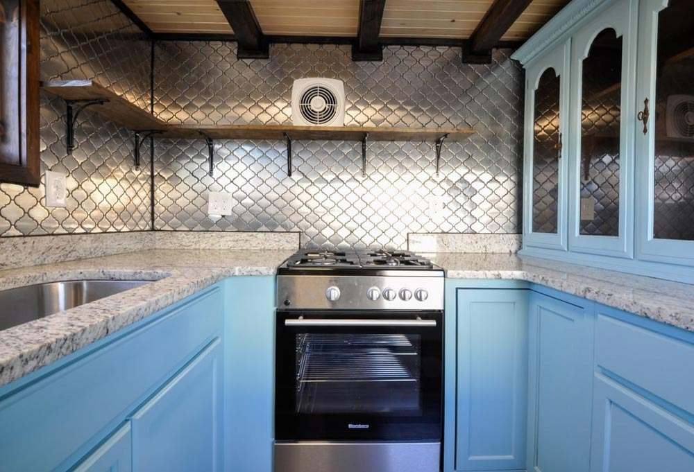 Custom Tile Backsplash - Mulberry by Tiny House Building Company