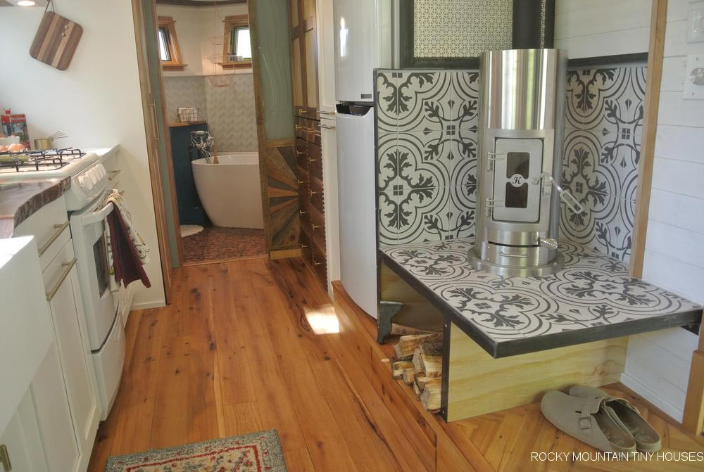Fireplace - San Juan by Rocky Mountain Tiny Houses