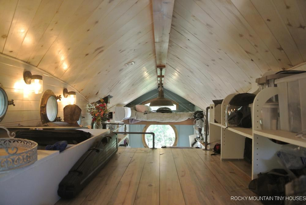 Curved Ceiling - San Juan by Rocky Mountain Tiny Houses