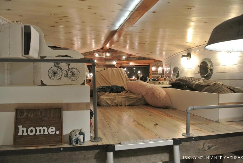 Loft with Railings - San Juan by Rocky Mountain Tiny Houses