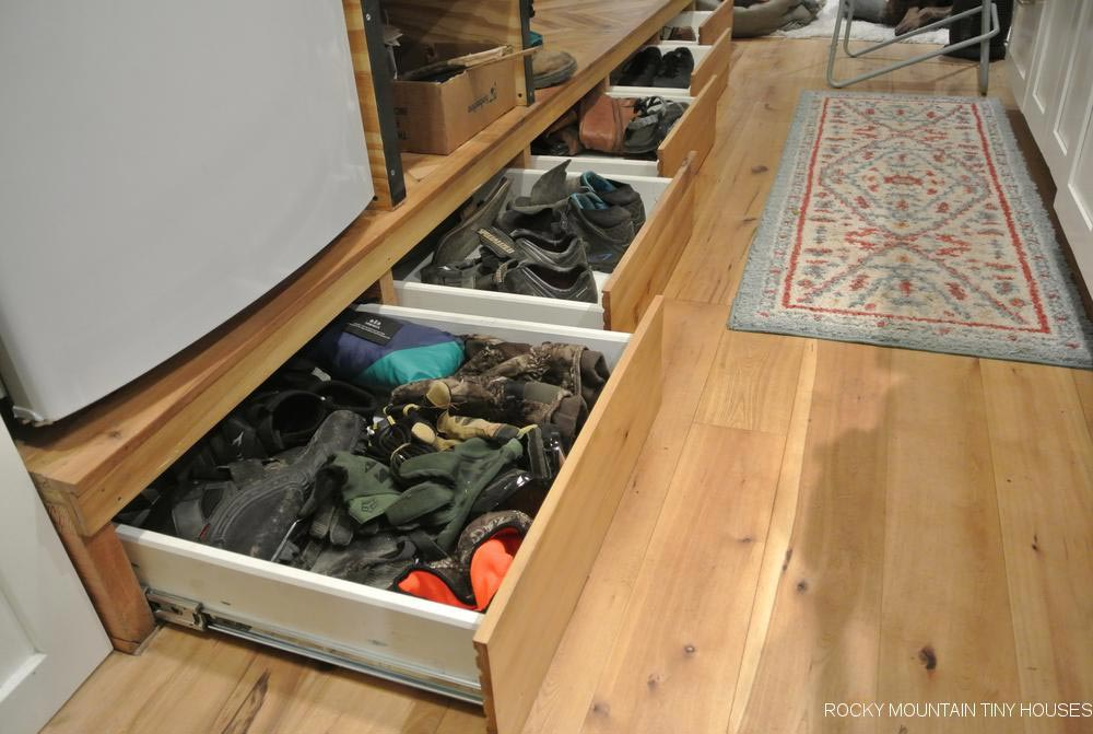 Toe Kick Storage - San Juan by Rocky Mountain Tiny Houses