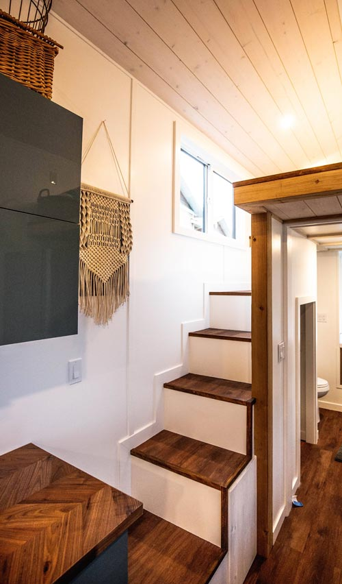 Storage Stairs - Coastal Escape by Sunshine Tiny Homes