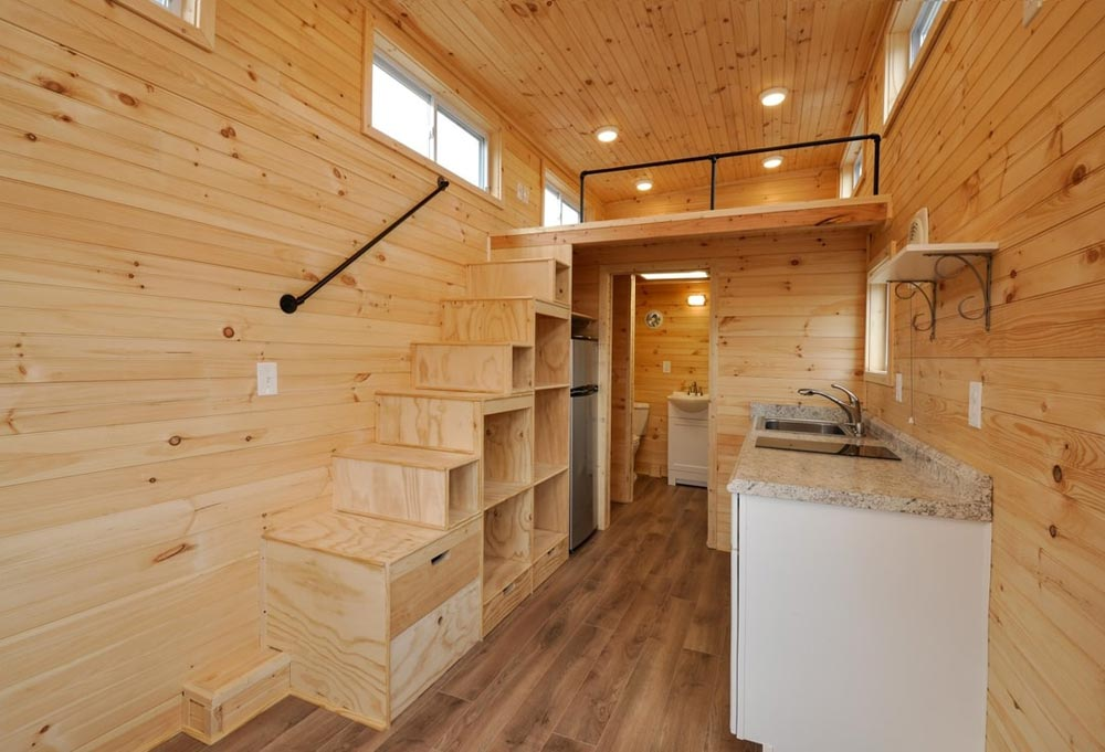 Kitchen & Stairs - Fairview by Tiny House Building Company