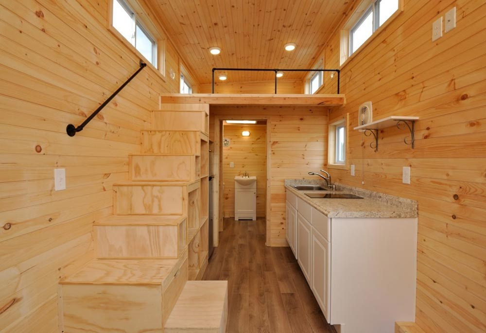 Stairs w/ Pull-Out Step - Fairview by Tiny House Building Company
