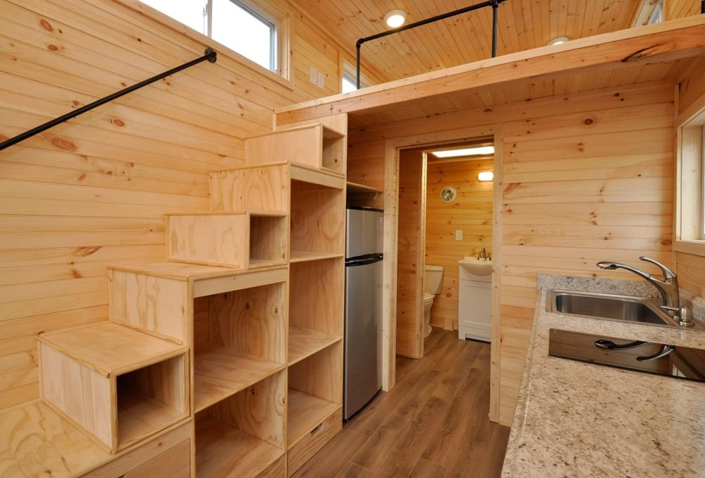 Storage Stairs - Fairview by Tiny House Building Company