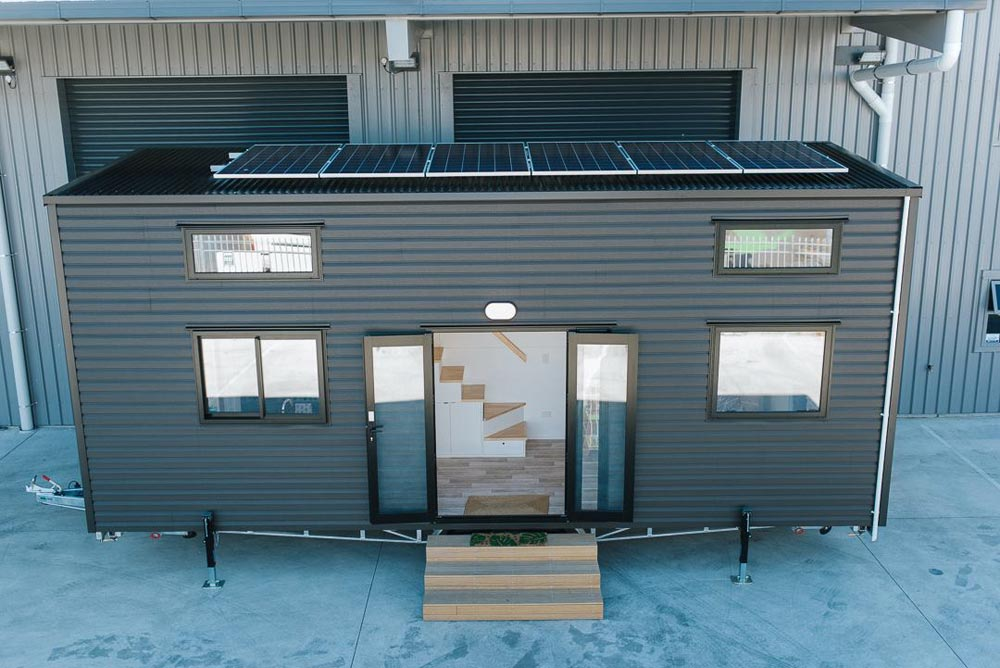 Gunmetal Gray Exterior - Ibbotson Tiny House by Build Tiny