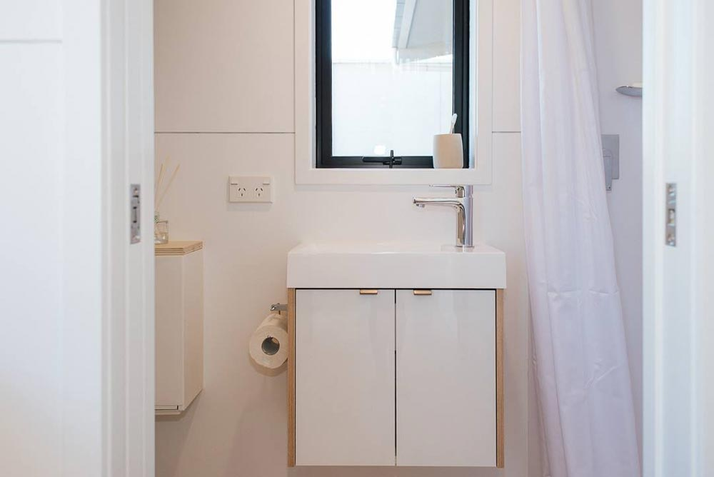 Wall-Mounted Vanity - Ibbotson Tiny House by Build Tiny