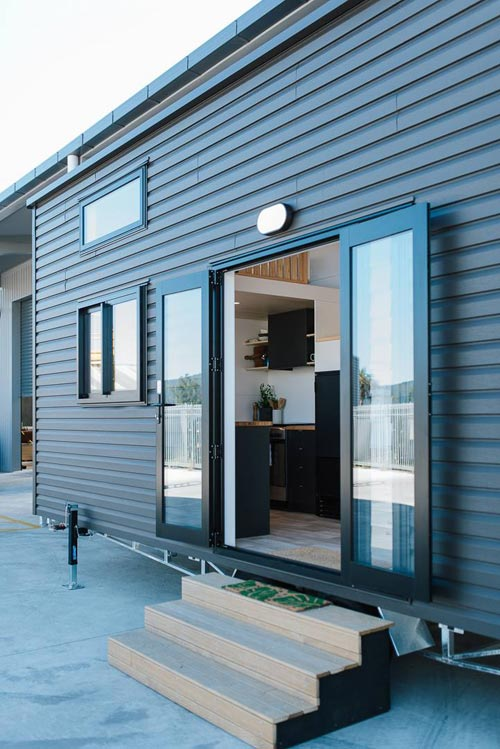 Double French Doors - Ibbotson Tiny House by Build Tiny