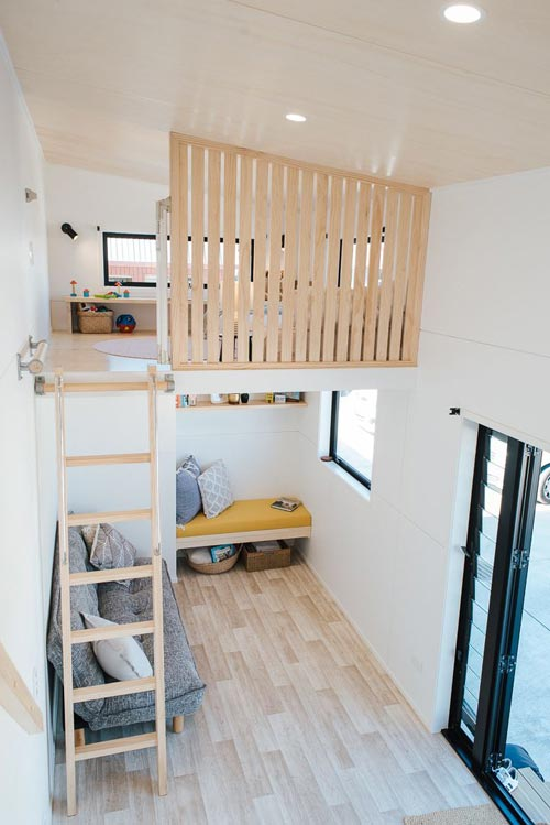 Loft & Lounge Area - Ibbotson Tiny House by Build Tiny