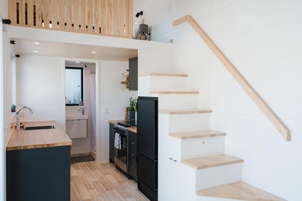 Kitchen & Stairs - Ibbotson Tiny House by Build Tiny