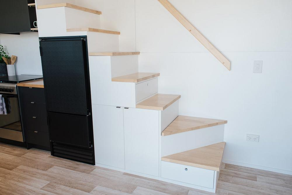 Storage Stairs - Ibbotson Tiny House by Build Tiny