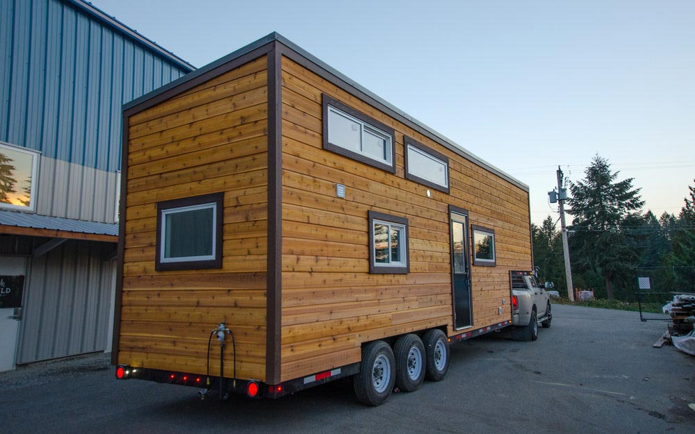 Natural Wood Exterior - Starling by Rewild Homes