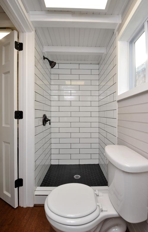 Tile Shower - Waterford by Tiny House Building Company