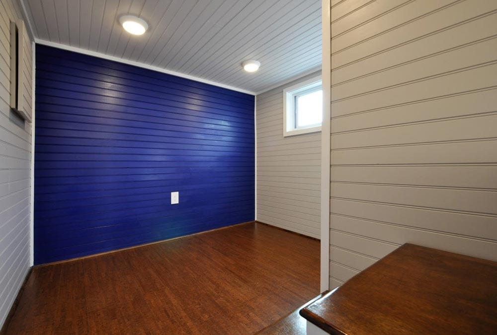 Blue Accent Wall - Waterford by Tiny House Building Company