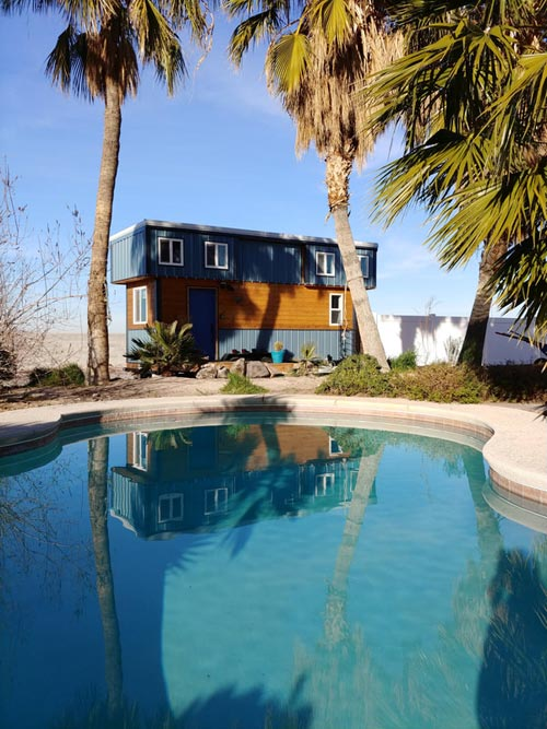 Pool Side View - Blue Baloo by Far Out Tiny Homes