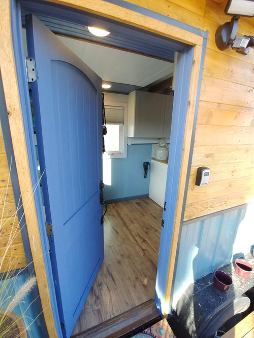 Entryway - Blue Baloo by Far Out Tiny Homes