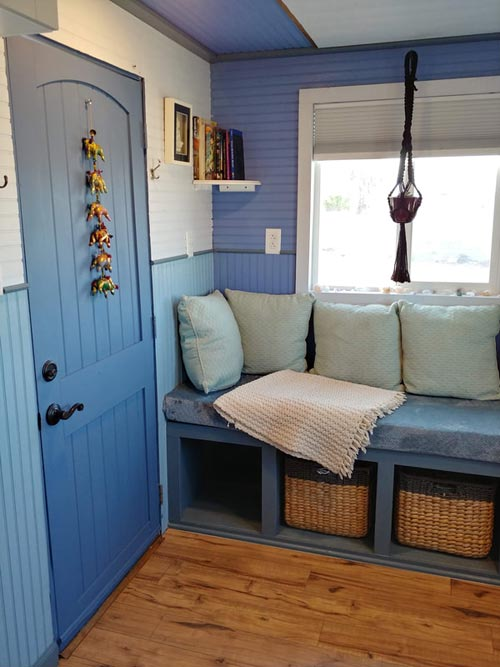 Front Door - Blue Baloo by Far Out Tiny Homes