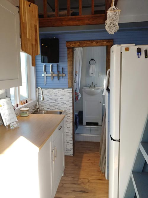 Galley Kitchen - Blue Baloo by Far Out Tiny Homes