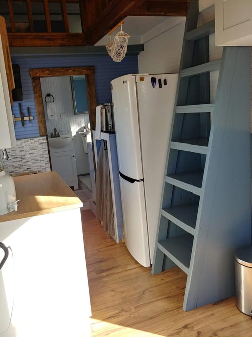 Bookcase Ladder - Blue Baloo by Far Out Tiny Homes