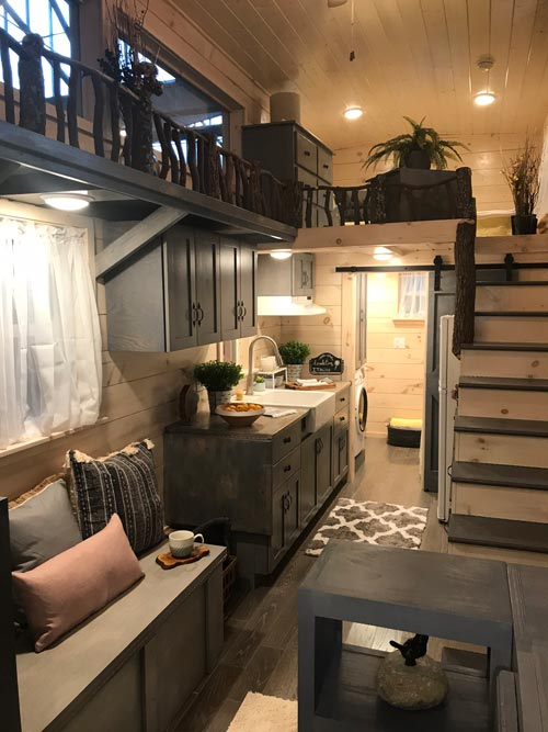 Kitchen & Living Area - Dandelion by Incredible Tiny Homes