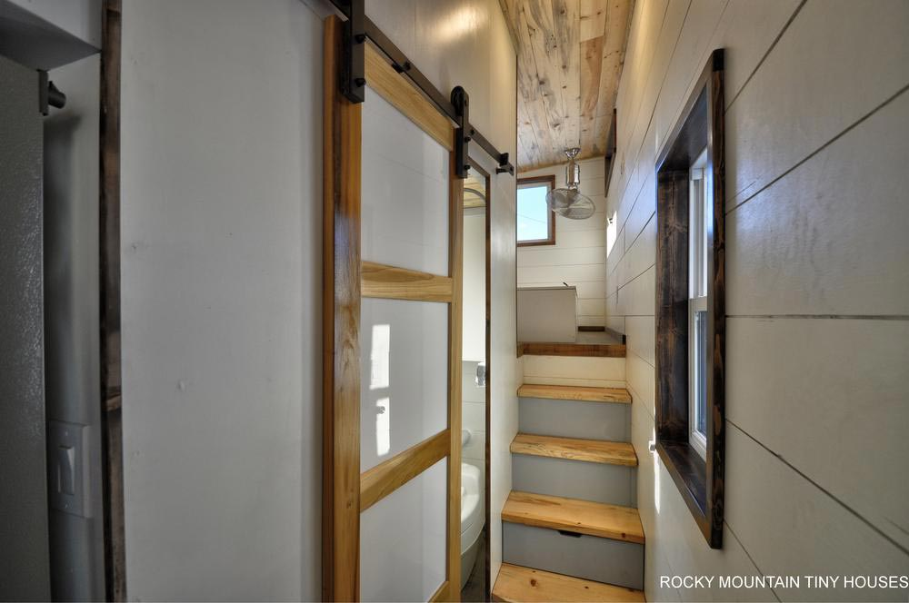 Hallway to Bedroom - Infinitely Stoked by Rocky Mountain Tiny Houses