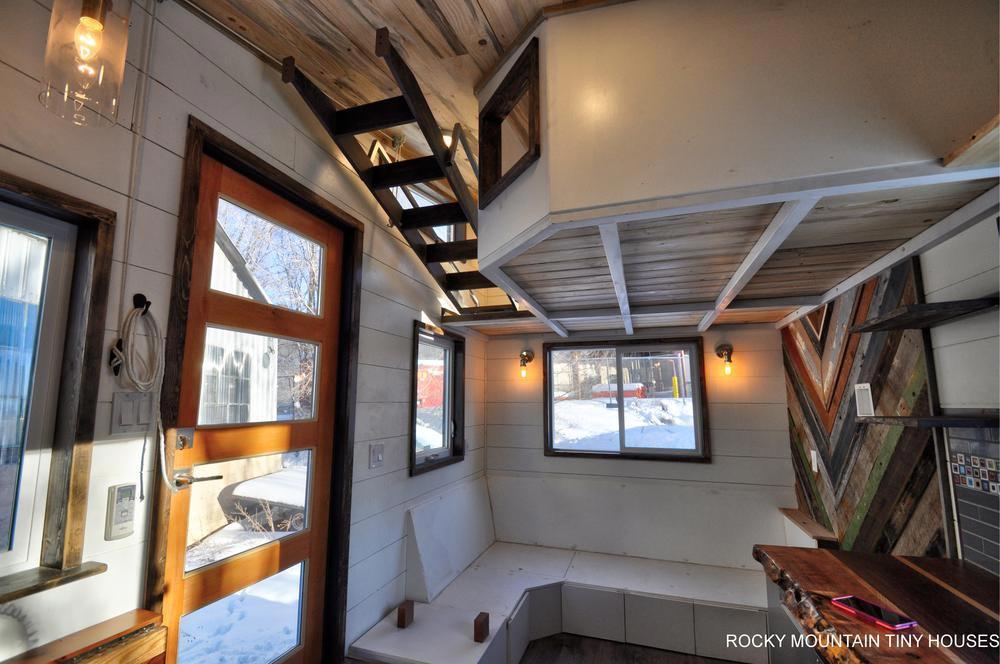 Custom Entry Door - Infinitely Stoked by Rocky Mountain Tiny Houses