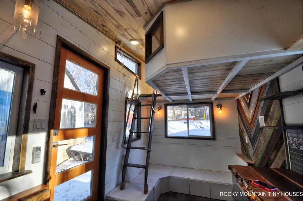 Retractable Ladder - Infinitely Stoked by Rocky Mountain Tiny Houses