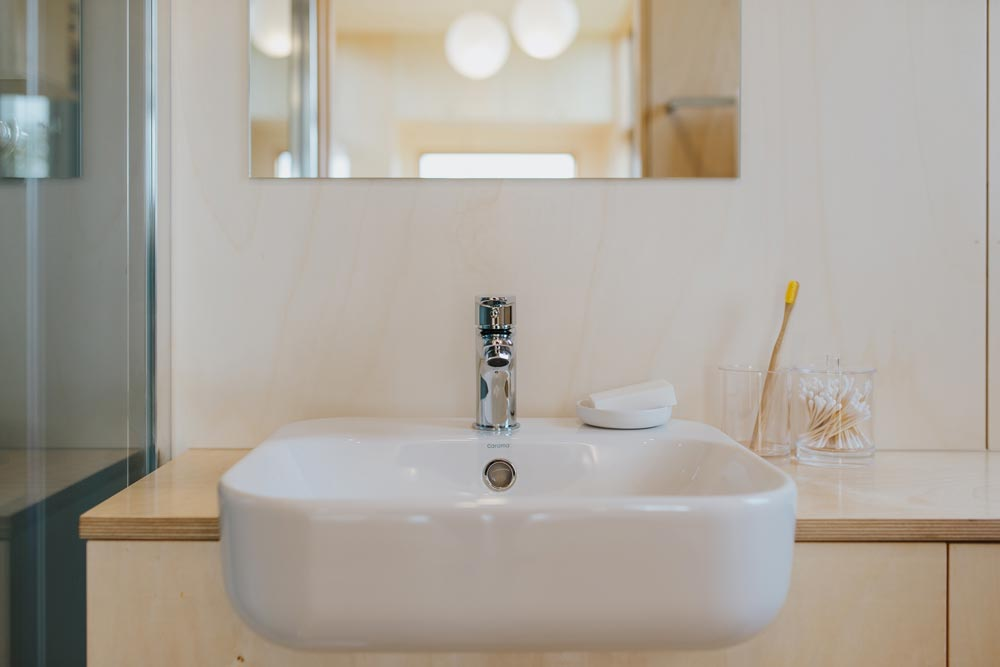 Bathroom Sink - First Light Tiny House by Build Tiny
