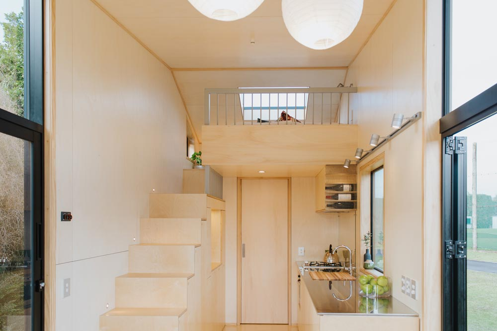 Kitchen & Loft - First Light Tiny House by Build Tiny