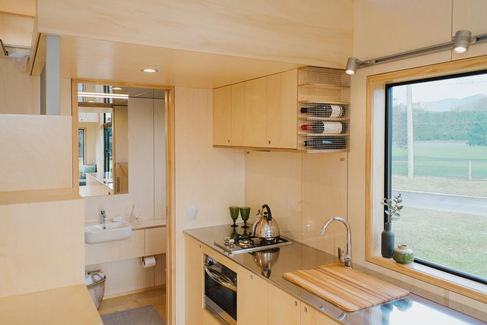 Stainless Steel Counter - First Light Tiny House by Build Tiny