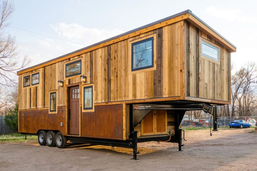 Ross' 35' Gooseneck Tiny House by Mitchcraft Tiny Homes