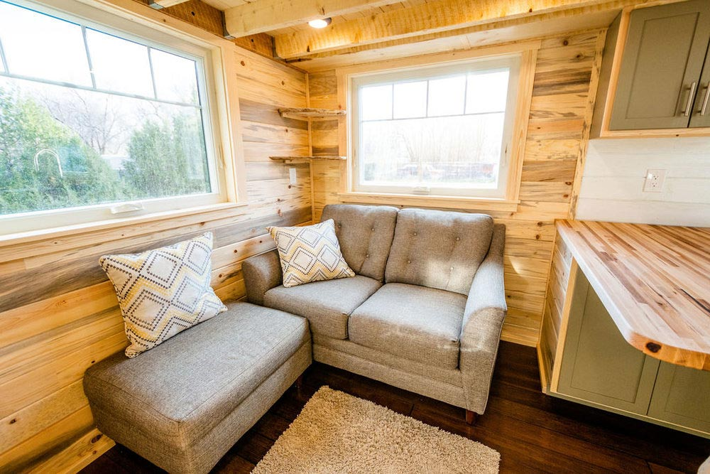 Living Room - Ross' 35' Gooseneck Tiny House by Mitchcraft Tiny Homes