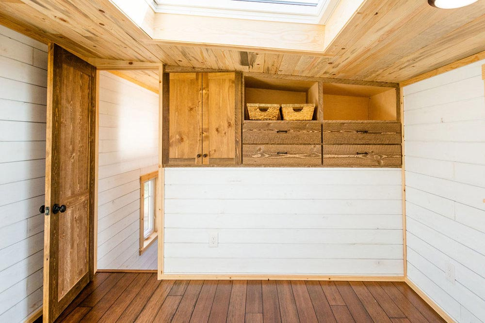Bedroom Storage - Ross' 35' Gooseneck Tiny House by Mitchcraft Tiny Homes