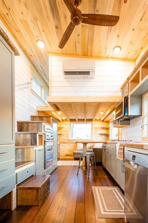 Interior View - Ross' 35' Gooseneck Tiny House by Mitchcraft Tiny Homes