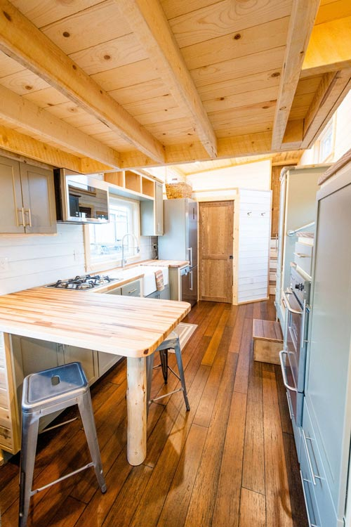Box Beam Ceiling - Ross' 35' Gooseneck Tiny House by Mitchcraft Tiny Homes