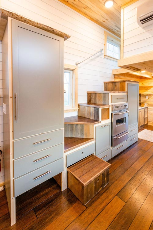 Plentiful Storage - Ross' 35' Gooseneck Tiny House by Mitchcraft Tiny Homes