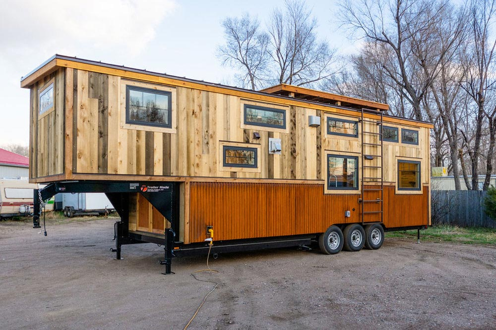 Rear View - Ross' 35' Gooseneck Tiny House by Mitchcraft Tiny Homes