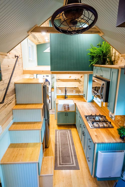 Interior View - Carrie's 28' Gooseneck Tiny House by Mitchcraft Tiny Homes