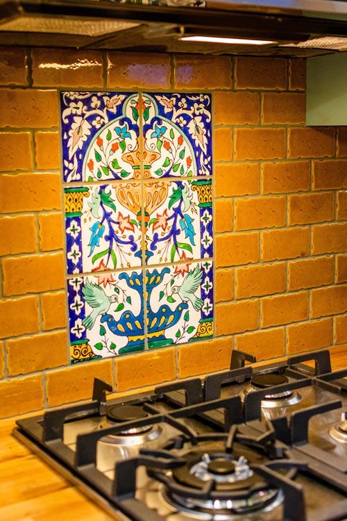 Kitchen Backsplash - Carrie's 28' Gooseneck Tiny House by Mitchcraft Tiny Homes
