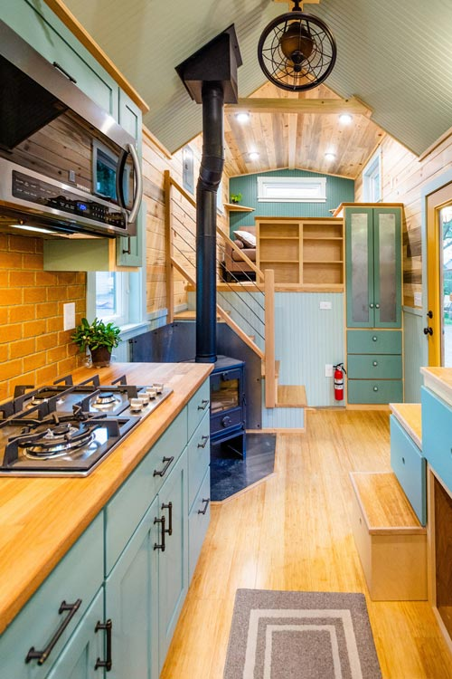 Entryway - Carrie's 28' Gooseneck Tiny House by Mitchcraft Tiny Homes