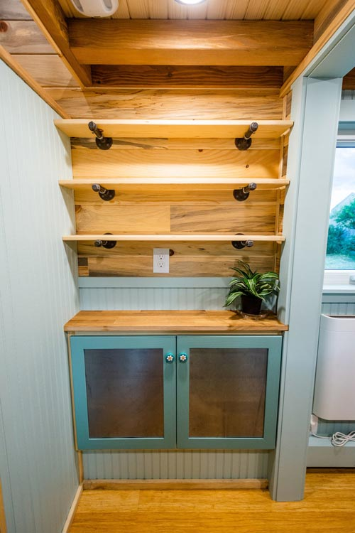 Built-In Storage - Carrie's 28' Gooseneck Tiny House by Mitchcraft Tiny Homes