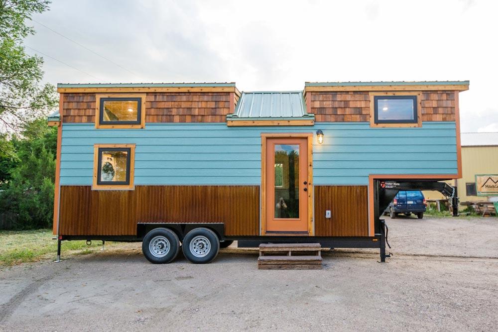 Three Tone Exterior - Carrie's 28' Gooseneck Tiny House by Mitchcraft Tiny Homes
