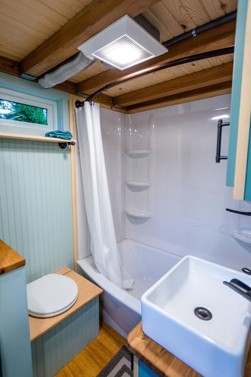 Full Size Bathtub - Carrie's 28' Gooseneck Tiny House by Mitchcraft Tiny Homes