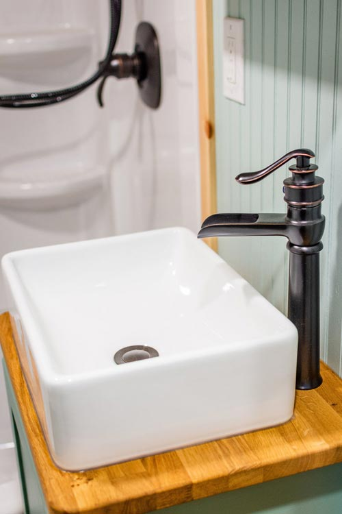 Vessel Sink - Carrie's 28' Gooseneck Tiny House by Mitchcraft Tiny Homes