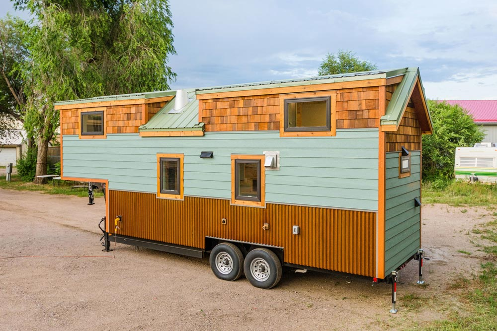 Rear Exterior View - Carrie's 28' Gooseneck Tiny House by Mitchcraft Tiny Homes