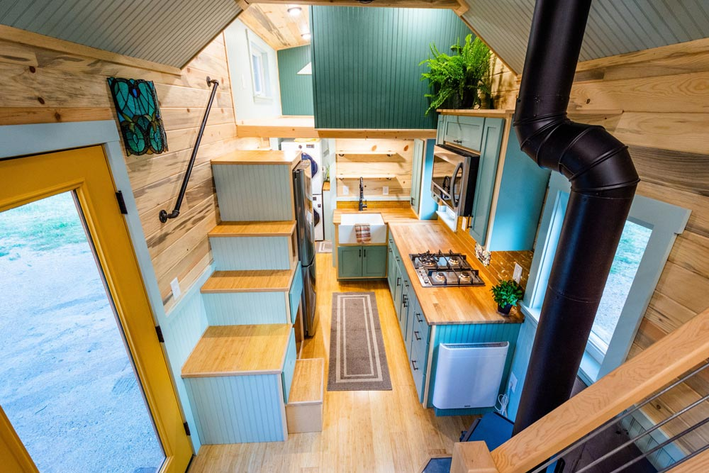 Aerial View - Carrie's 28' Gooseneck Tiny House by Mitchcraft Tiny Homes