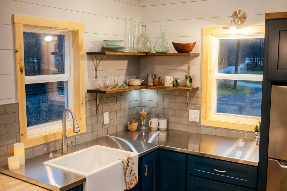 Stainless Steel Counters - Lykke by Wind River Tiny Homes