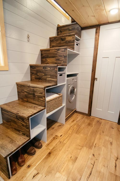 Storage Stairs - Lykke by Wind River Tiny Homes